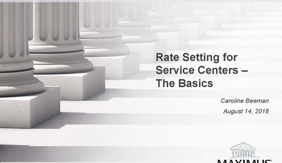 Rate setting for service centers – the basics